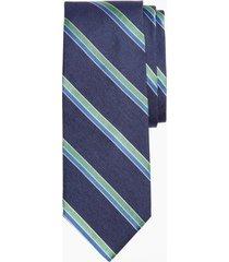 corbata heather stripe azul brooks brothers