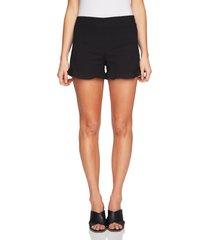 women's 1.state ruffle hem flat front shorts, size 00 - black