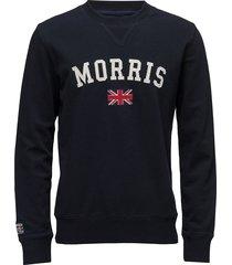 brown sweatshirt trui met lange mouwen blauw morris