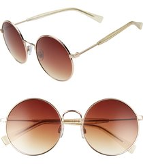 women's bp. 55mm gradient round sunglasses - gold