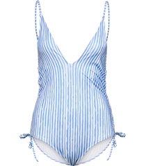 julia bs h baddräkt badkläder blå hunkemöller