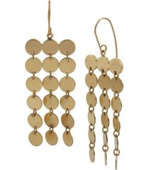robert lee morris soho disc fringe chandelier earrings