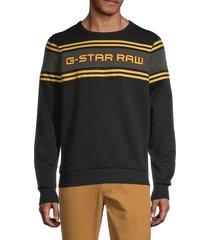 g-star raw men's swando-s logo sweatshirt - black - size m