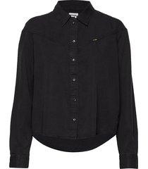 80´s denim shirt black st overhemd met lange mouwen zwart wrangler