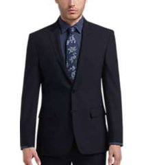 joe joseph abboud blue tic slim fit suit