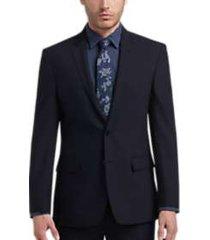 joe joseph abboud blue tic slim fit suit