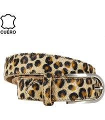 cinturón cuero potro leopardo chico mailea