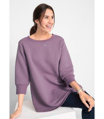 geribde sweater, 3/4 mouw