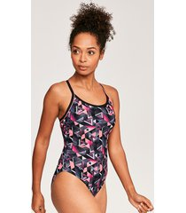 chaos piped sprintback one-piece swimsuit