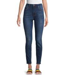 true religion women's jennie curvy skinny jeans - saddle blue - size 30 (8-10)