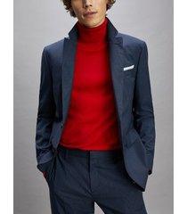 tommy hilfiger men's regular fit virgin wool suit navy/blue - 40