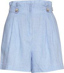 elsa linen shorts shorts paper bag shorts blå morris lady