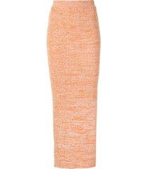 anna quan ruby knitted pencil skirt - orange