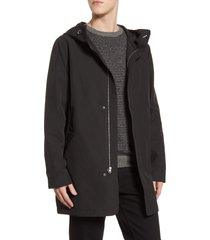 men's herschel supply co. fishtail hooded parka, size medium - black