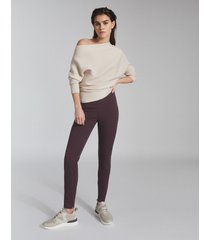 reiss tyne - skinny trousers in berry, womens, size 14