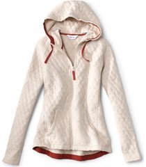 quilted outdoor hoodie