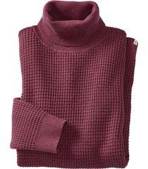pullover met rolkraag uit hennep/bio-katoenmengsel, framboos xxl