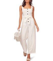 women's astr the label mirage wide leg jumpsuit, size x-small - white
