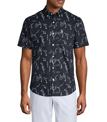 diver-print short-sleeve shirt