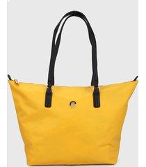 bolso amarillo-negro tommy hilfiger