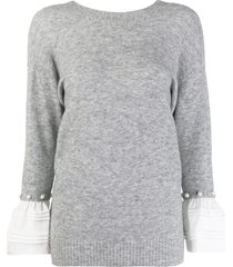 3.1 phillip lim v-neck sweater - grey