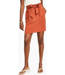 bar iii paperbag-waist belted skirt, created for macy's