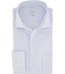 overhemd seidensticker blauw wit gestreept