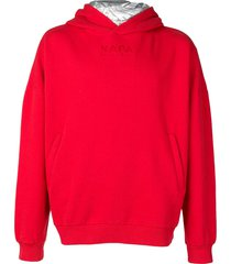 napa by martine rose embroidered logo hoodie