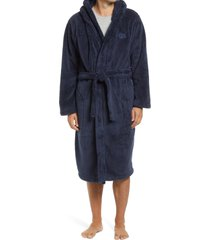 men's ugg beckett plush robe, size medium/large - blue