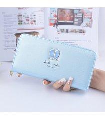 gran capacidad cartera para mujer/ bolso de pulsera-azul