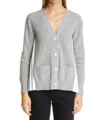 women's sacai pleated back wool cardigan, size 4 - grey