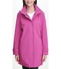 dkny women's side tab mesh backed softshell rain coat