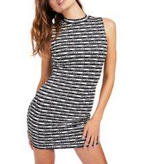 guess printed sleeveless sheath dress