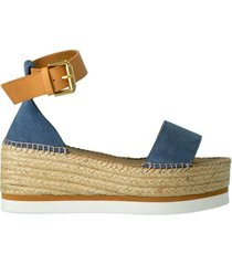jean strappy wedge heel sandal