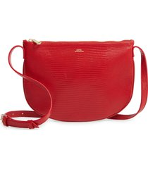 a.p.c. sac maelys leather crossbody bag - red