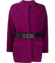 ba & sh cliff belted coat - purple