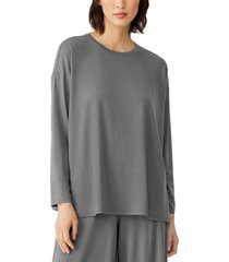 eileen fisher crewneck relaxed top