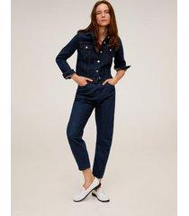 slouchy jeans met elastische tailleband