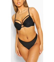 mix & match fuller bust underwired ladder top, black