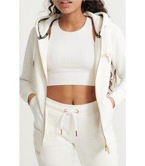superdry women's orange label elite zip hoodie