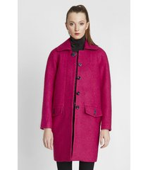płaszcz z wełny boucle ruby