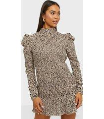 ax paris puff sleeve high neck dress loose fit dresses
