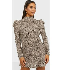 ax paris puff sleeve high neck dress loose fit dresses