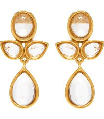 'cachemire' rhinestone drop earrings