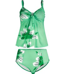 tankini (set 2 pezzi) (verde) - bpc bonprix collection