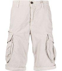 myths multi-pocket cargo shorts - grey