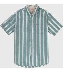 camisa verde-blanco levis