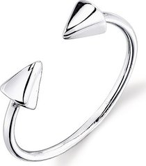 white gold plated double cone adjustable toe ring 925 sterling silver jewelry