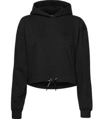 branded draw cords h hoodie svart calvin klein jeans
