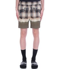 palm angels shorts in beige viscose